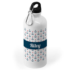 Personalized 20 oz. Stainless Steel Water Bottle - Anchors Ahoy