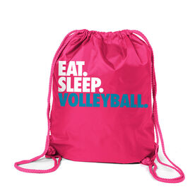 Volleyball Sport Pack Cinch Sack Eat. Sleep. Volleyball.
