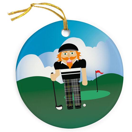 Golf Porcelain Ornament Nutcracker