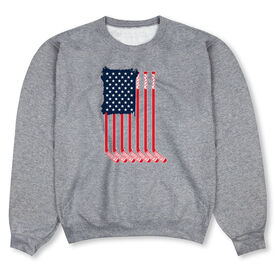 Hockey Crew Neck Sweatshirt - American Flag