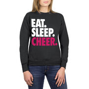 Cheerleading Crew Neck Sweatshirt - Eat Sleep Cheer