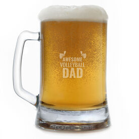 15 oz. Beer Mug Awesome Volleyball Dad