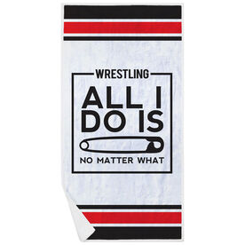 Wrestling Premium Beach Towel - All I Do Is Pin