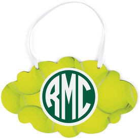 Tennis Cloud Sign - Monogrammed Ball Background