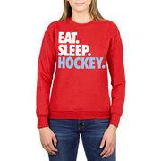 Hockey Crew Neck Sweatshirt - Eat Sleep Hockey (Bold)