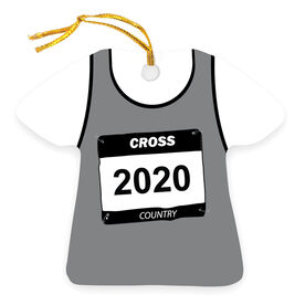 Cross Country Ornament - Personalized Singlet
