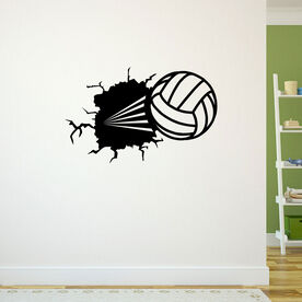 Volleyball Wall Decal Volleyball Through The Wall