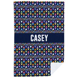 Personalized Premium Blanket - Personalized Rainbow Triangles