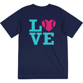 Softball Short Sleeve Performance Tee - Love
