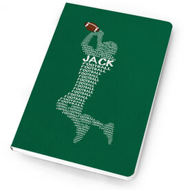 Football Notebook Personalized Words