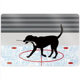 """Hockey 18"""" X 12"""" Aluminum Room Sign - Howe The Hockey Dog"""