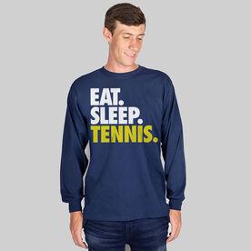 Tennis T-Shirt Long Sleeve Eat. Sleep. Tennis.