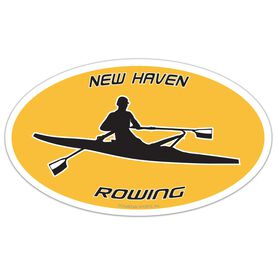 Crew Oval Car Magnet Personalized Rower