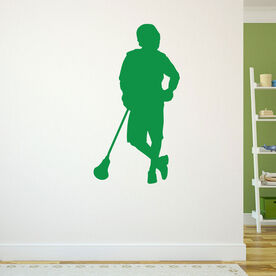 Guys Lacrosse Removable ChalkTalkGraphix Wall Decal - Chillax'n Lax Player
