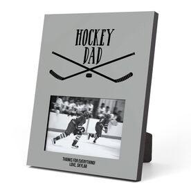 Hockey Photo Frame - Hockey Dad With Crossed Sticks