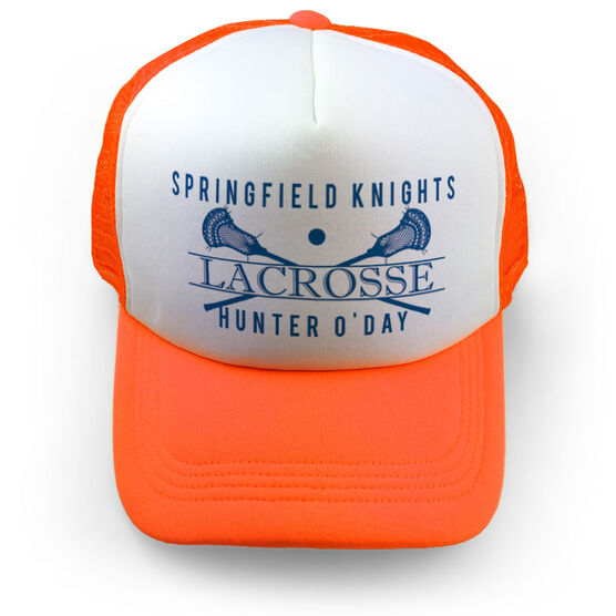 Guys Lacrosse Trucker Hat - Personalized Crest