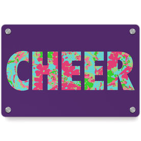 Cheerleading Metal Wall Art Panel - Floral Cheer