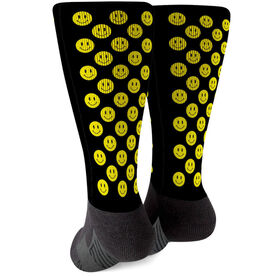 Printed Mid-Calf Socks - Smiley
