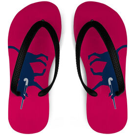 Field Hockey Flip Flops Dog