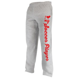 Soccer Fleece Sweatpants I Heart My Soccer Player