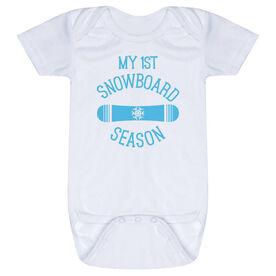 Snowboarding Baby One-Piece - My First Snowboard Season