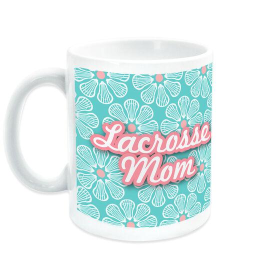 Lacrosse Coffee Mug Mom With 'Fleur De' Pattern