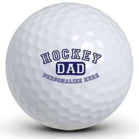 Hockey Dad (Block Logo) Golf Balls