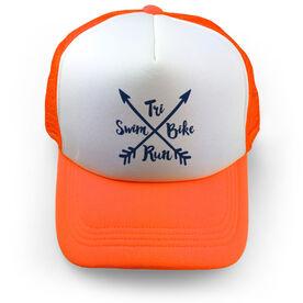 Triathlon Trucker Hat - Crossed Arrows