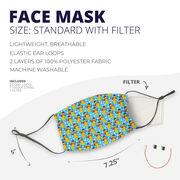 Softball Face Mask - Softball Snowman