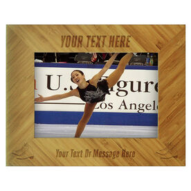Figure Skating Bamboo Engraved Picture Frame Your Text