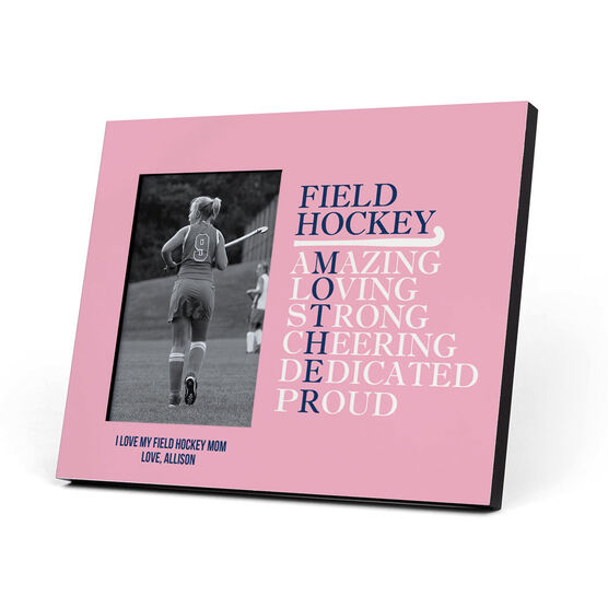 Field Hockey Photo Frame - Mother Words