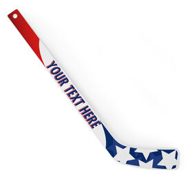 Personalized Knee Hockey Player Stick Patriotic