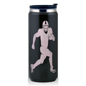 Stainless Steel Travel Mug Football Running Back Silhouette