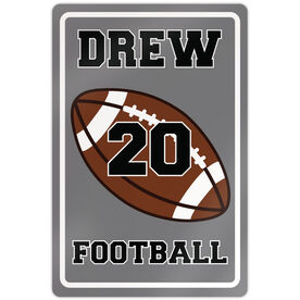 "Football 18"" X 12"" Aluminum Room Sign Personalized Football"
