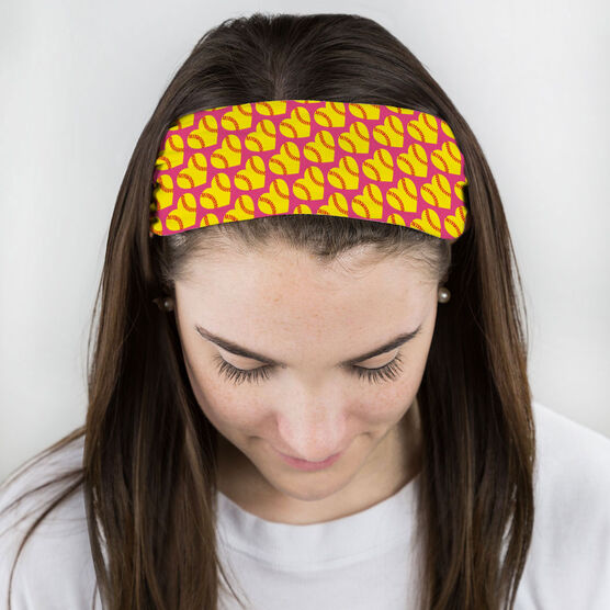 Softball Multifunctional Headwear - Softball Hearts RokBAND