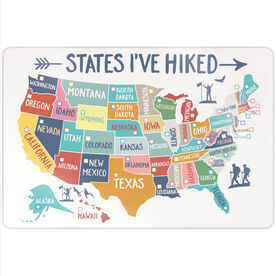 "Personalized 18"" X 12"" Aluminum Room Sign - States I've Hiked (Dry Erase)"