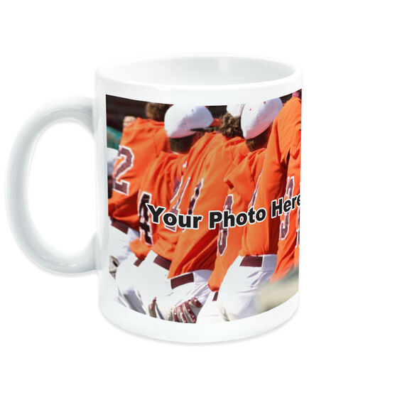 Baseball Coffee Mug Thanks Coach Custom Photo With Team Roster