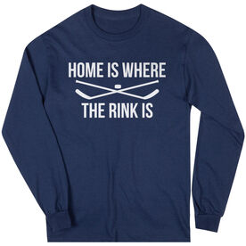 Hockey Long Sleeve Tee - Home Is Where The Rink Is
