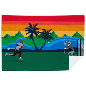 Guys Lacrosse Premium Blanket - Go for the Goal Tropical