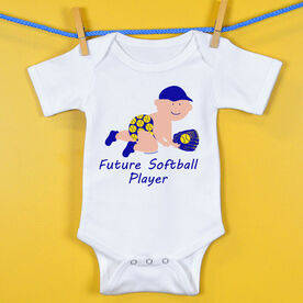Softball Baby One-Piece Future Softball Player Boy