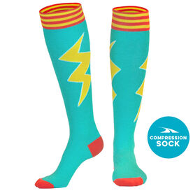 Let's Bolt Compression Knee Socks