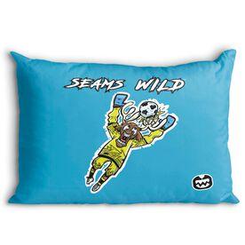 Seams Wild Soccer Pillowcase - Blockler