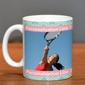 Tennis Coffee Mug Custom Photo with Pattern