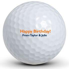 Happy Birthday Text Golf Balls