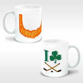 Hockey Coffee Mug Leprechaun Beard I Shamrock