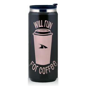 Stainless Steel Travel Mug Will Run For Coffee