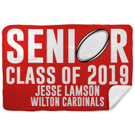 Sherpa Fleece Blanket - Personalized Rugby Senior Class Of