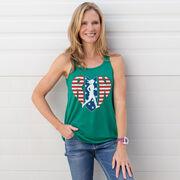 Flowy Racerback Tank Top - Patriotic Heart