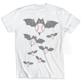 Vintage Baseball T-Shirt - Halloween Bats and Balls