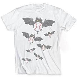 Vintage Baseball T-Shirt - Halloween Bats and Balls